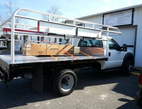 Custom Aluminum Truck Bed with Ladder Rack