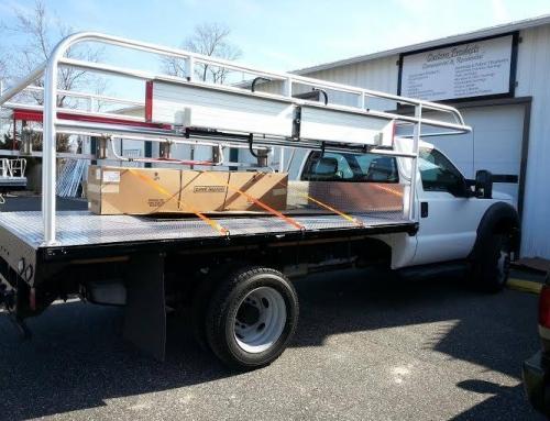 Custom Aluminum Truck Bed with Ladder Rack